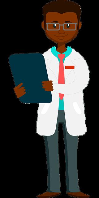 docteur noir blouse blanche